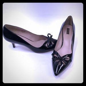 JOAN & DAVID Degardner Black Patent Leather Heels